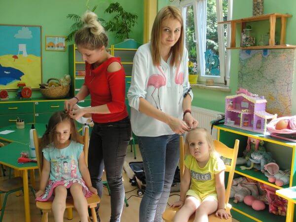 Pokazy fryzjerskie w przedszkolu